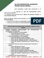 Structura Documentatiei Aferente Proiectelor Model
