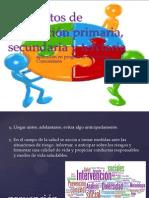 Conceptos de prevención primaria, secundaria y terciaria