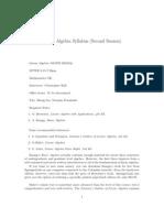Linear Algebra Syllabus