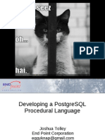 Developing a PostgreSQL Procedural Language