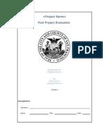 PostProjectEvaluationTemplatev1.1