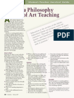 writing a philosophy of teaching art