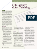 writing a philosophy of teaching art