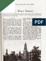 _The Waco Horror_ - William Edward Burghardt Du Bois