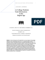 How College Students Seek Information in the Digital Age