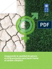 Asegurando la equidad de género en la financiación para hacer frente al cambio climático