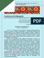 Cuadernos Del Hipogrifo. Revista Semestral de Literatura Hispanoamericana y Comparada
