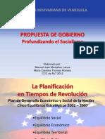 profundización Plan Socialista