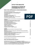 Asignaturas WS 1213