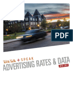 The Tech Talk / Speak Magazine 2015-16 Advertising Rates and Data