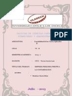 Rsu - If - Costos Aplicados II -Segunda Unidad