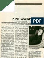 1977_Io nel laberinto (Bianciotti y Endhoven, Panorama). Traducción de Deux heures de clair-obscur avec Jorge Luis Borges (Le Nouvel Observateur 679)