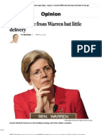 The Big Noise of Senator Elizabeth Warren