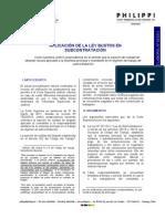 Aplicación ley bustos subcontratación Informe laboral 05_2011