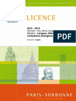 Brochure 2012-2013 Licence LLCE Anglais 2012-08-23