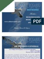 ANUARIO ADINA ROSARIO. TEMAS DE NEUROPSICOLOGÍA, NEUROLINGÜÍSTICA Y AFASIOLOGÍA. RESÚMENES DE LOS ARTÍCULOS PUBLICADOS