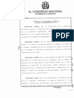 Ley 101-13 que regula el envío de Misiones del Mantenimiento de Paz