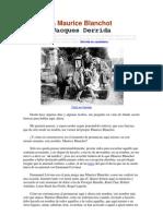Derrida - A Maurice Blanchot