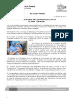 31/07/13 Germán Tenorio Vasconcelos LACTANCIA MATERNA REDUCE RIESGOS EN LA SALUD DEL BEBÉ Y LA MADRE