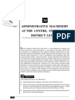 34_Administrative Machinery at the Centre, States and District Levels (130 KB)