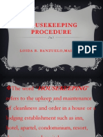 Housekeeping Procedure
