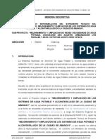 M Descriptiva Ampl. y Mej. Agua Potabel 2013aaa