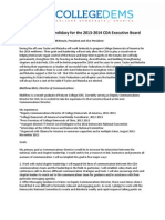 Statements of Candidacy for the 2013-2014 CDA Executive Board