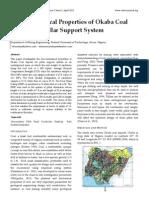 Geo- Mechanical Properties of Okaba Coal Deposit for Pillar Support System