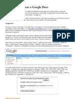 Aprenda a Utilizar o Google Docs