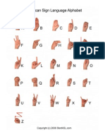 Startasl Sign Language Alphabet