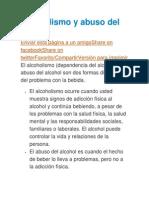 Alcoholismo y Abuso Del Alcohol