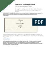 Como Criar Formularios No Google Docs