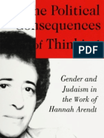 The Political Consequences of Thinking Gender and Judaism in the Work of Hannah Arendt
