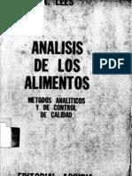 Analisis de Los Alimentos-Metodo Analitico y de Control de Calidad_Dr. Jose Fernadez Salguero_R. Lees_ACRIBIA