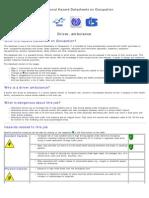 Occupational Hazard Datasheet Driver, Ambulance