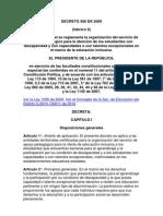 Decreto 366 de 2009