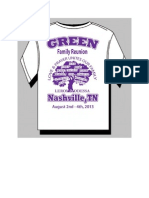 Green Reunion Tshirt