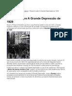 A Grande Depressão de 1929