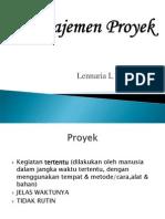 MT Manajemen Proyek