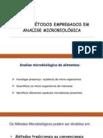 NOVOS MÉTODOS EMPREGADOS EM ANÁLISE MICROBIOLÓGICA.pptx