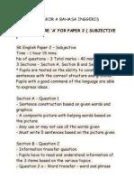 Tips Untuk Skor a Bahasa Inggeris