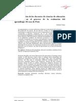 La intervención de los docentes de ciencias de educación secundaria en el proceso de evaluación del aprendizaje. El caso de Perú