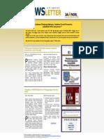 Newsletter Jaminan Sosial Edisi 45 | Agustus 2012