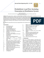 Three-phase Probabilistic Load Flow Including Photovoltaic Generation in Distribution System