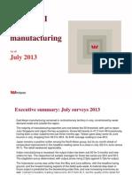 Asian PMI Update July 2013 Surveys