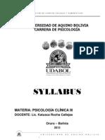 SYLLABUS PSICOLOGÍA CLÍNICA IIIx