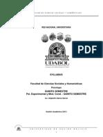 Sillabus - Psicología Experimental y Modificación de la Conducta- I 2013