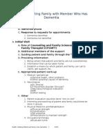 model of family care in dementia