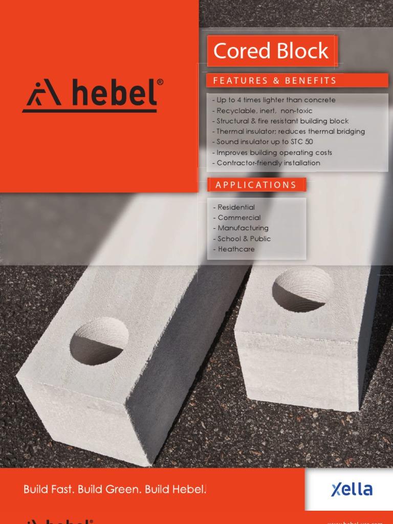 Hebel Cored Block Download | Mortar (Masonry) | Strength Of