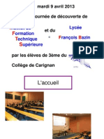 Présentation CARIGNAN Ifts Bazin